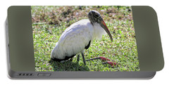 Resting Wood Stork Portable Battery Charger