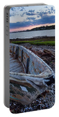 Portable Battery Charger featuring the photograph Retired Boat, Harpswell, Maine #252437 by John Bald