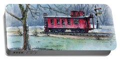 Retired Red Caboose Portable Battery Charger