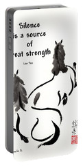 Portable Battery Charger featuring the painting Retired With Lao Tzu Quote IIi by Bill Searle