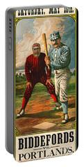 Retro Baseball Game Ad 1885 B Portable Battery Charger