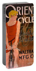Portable Battery Charger featuring the photograph Retro Bicycle Ad 1890 by Padre Art