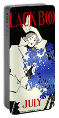 Portable Battery Charger featuring the photograph Retro Bicycle Cover 1896 by Padre Art
