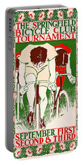 Portable Battery Charger featuring the photograph Retro Bicycle Poster 1895 by Padre Art