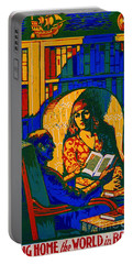 Portable Battery Charger featuring the photograph Retro Books Poster 1920 by Padre Art