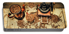 Retro Coffee Bean Mill Portable Battery Charger