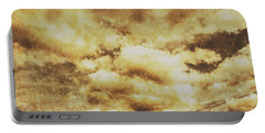 Retro Grunge Cloudy Sky Background Portable Battery Charger