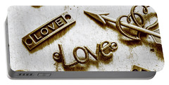 Retro Love Heart Jewels  Portable Battery Charger