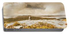 Retro Mountaintop Views Portable Battery Charger