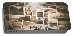 Retro Photo Album Background Portable Battery Charger