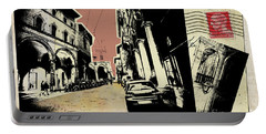 retro postcard of Bologna Portable Battery Charger
