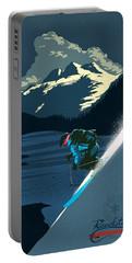 Retro Revelstoke Ski Poster Portable Battery Charger