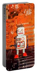 Retro Robotic Nostalgia Portable Battery Charger