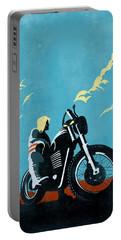 Retro Scrambler Motorbike Portable Battery Charger