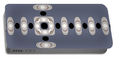 Portable Battery Charger featuring the digital art Retro Shapes 1 by Fran Riley