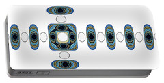 Portable Battery Charger featuring the digital art Retro Shapes 2 by Fran Riley