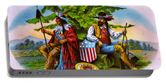 Portable Battery Charger featuring the photograph Retro Tobacco 1885 by Padre Art