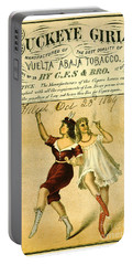 Portable Battery Charger featuring the photograph Retro Tobacco Label 1869 F by Padre Art
