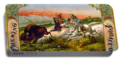 Portable Battery Charger featuring the photograph Retro Tobacco Label 1872 D by Padre Art