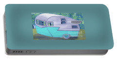 Retro Trailer Portable Battery Charger