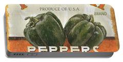 Retro Veggie Labels 3 Portable Battery Charger
