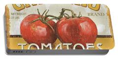 Retro Veggie Labels 4 Portable Battery Charger by Debbie DeWitt