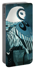 Retrospect In The Moonlight Owl Portable Battery Charger