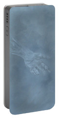 Portable Battery Charger featuring the painting Return To Dust by Judith Rhue