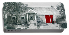 Retzlaff Winery With Red Door No. 2 Portable Battery Charger