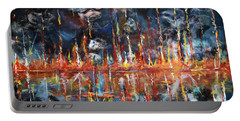 Portable Battery Charger featuring the painting Revelations 20_ 14-15 by Gary Smith