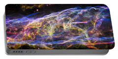 Portable Battery Charger featuring the photograph Revisiting The Veil Nebula by Adam Romanowicz