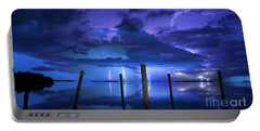 Blue Nights Portable Battery Charger by Quinn Sedam