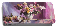 Rhapsody Of Roses Portable Battery Charger