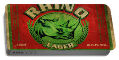 Rhino Lager Portable Battery Charger by Greg Sharpe