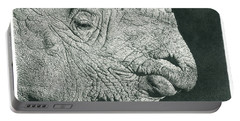 Rhino Pencil Drawing Portable Battery Charger