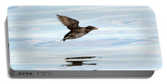 Rhinoceros Auklet Reflection Portable Battery Charger by Mike Dawson