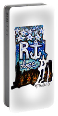 Portable Battery Charger featuring the painting Rhode Island, Hope by Monique Faella
