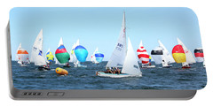 Portable Battery Charger featuring the photograph Rhodes Nationals Sailing Race Dennis Cape Cod by Charles Harden