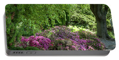 Portable Battery Charger featuring the photograph Rhododendron Bloom In Botanical Garden Mendelu by Jenny Rainbow