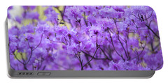 Portable Battery Charger featuring the photograph Rhododendron In Bloom. Spring Watercolors by Jenny Rainbow