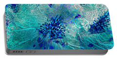 Rhododendron Turquoise Lace Portable Battery Charger
