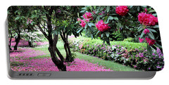 Rhododendrons Blooming Villa Carlotta Italy Portable Battery Charger