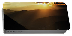 Rhodope Mountains At Sunset Portable Battery Charger