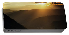 Rhodope Mountains Sunset Portable Battery Charger