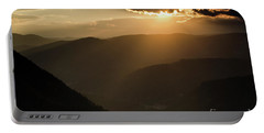 Rhodope Mountains Sunset2 Portable Battery Charger