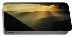 Rhodope Mountains Sunset3 Portable Battery Charger