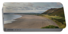 Portable Battery Charger featuring the photograph Rhossili Bay, South Wales by Perry Rodriguez