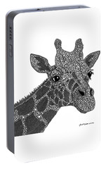 Rhymes With Giraffe Portable Battery Charger by Laura McLendon