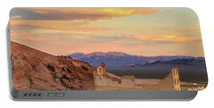 Portable Battery Charger featuring the photograph Rhyolite Bank At Sunset by James Eddy