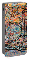 Portable Battery Charger featuring the mixed media Rhythm Of The Forest by Genevieve Esson